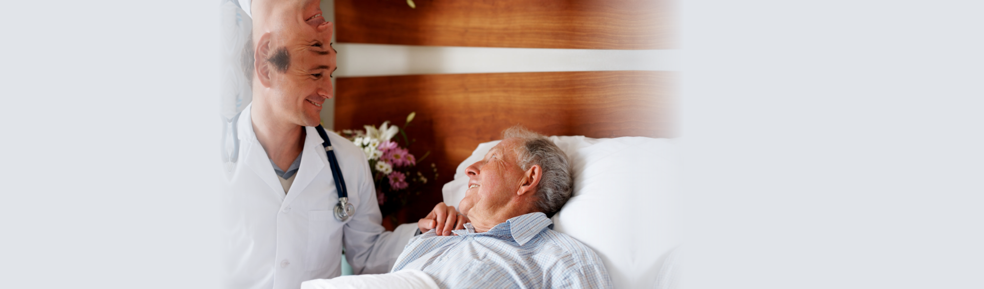 elderly man with his doctor